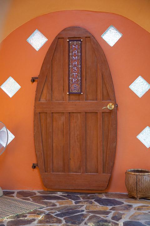 I built my door out of reclaimed mahogany.