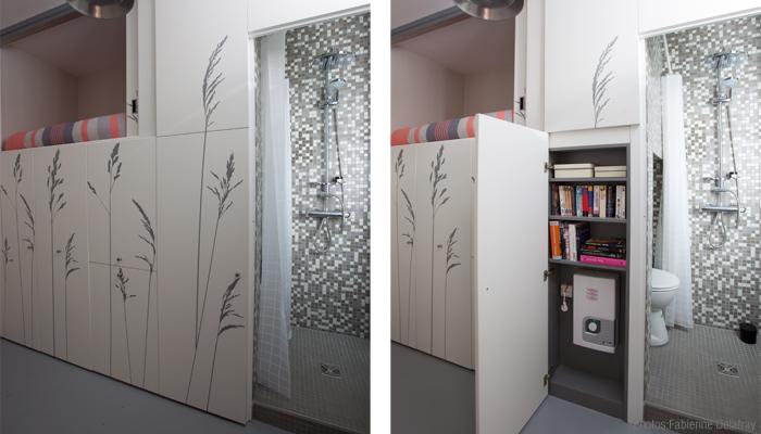 Space Saving with Hidden Amenities - Tiny 8 sqm Parisian Apartment  (10)