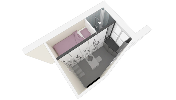 Exceptionnel Space Saving With Hidden Amenities   Tiny 8 Sqm Parisian Apartment (3)