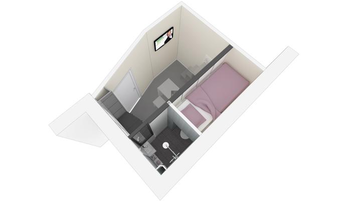 Space Saving with Hidden Amenities - Tiny 8 sqm Parisian Apartment  (4)