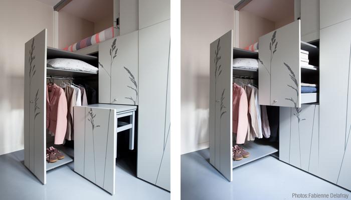 Space Saving with Hidden Amenities - Tiny 8 sqm Parisian Apartment  (7)