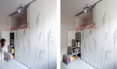ThumbSpace Saving with Hidden Amenities - Tiny 8 sqm Parisian Apartment  (6)