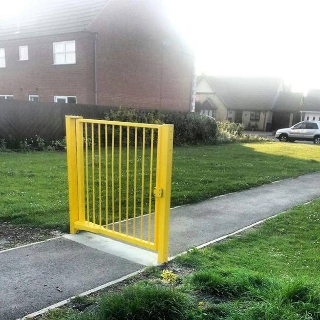 This gate will keep out absolutely no one