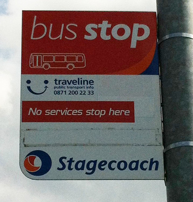 This very useful bus stop.